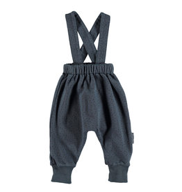 piupiuchick Baby unisex trousers | Anthracite with black dots
