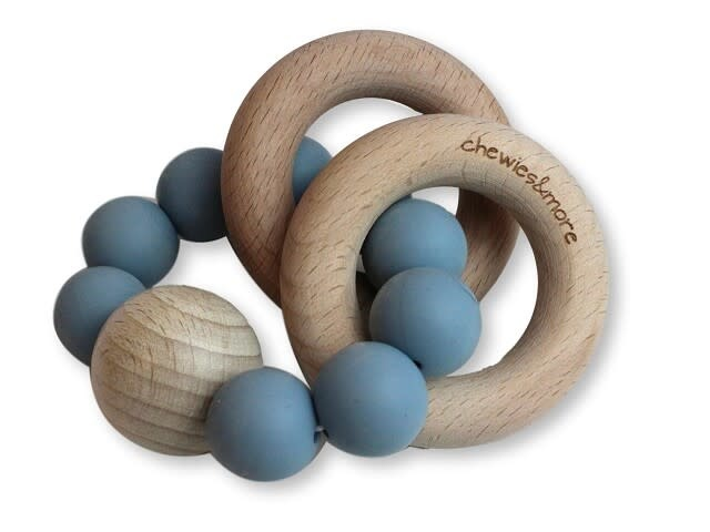 Chewies & more Chewie rattle dusty blue