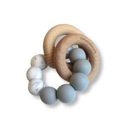 Chewies & more Basic rattle licht grijs/ marble