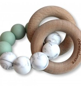 Chewies & more Basic rattle early sea/ marble