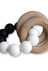 Chewies & more Basic rattle black/white