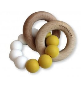 Chewies & more Basic rattle oker/ white