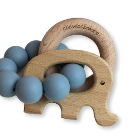 Chewies & more Play rattle elephant dusty blue