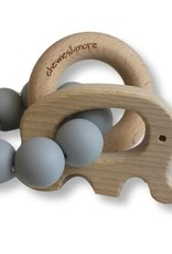Chewies & more Play rattle elephant licht grijs