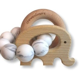 Chewies & more Play rattle elephant marble