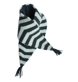 Hats over heels Skunk scarf | dark grey
