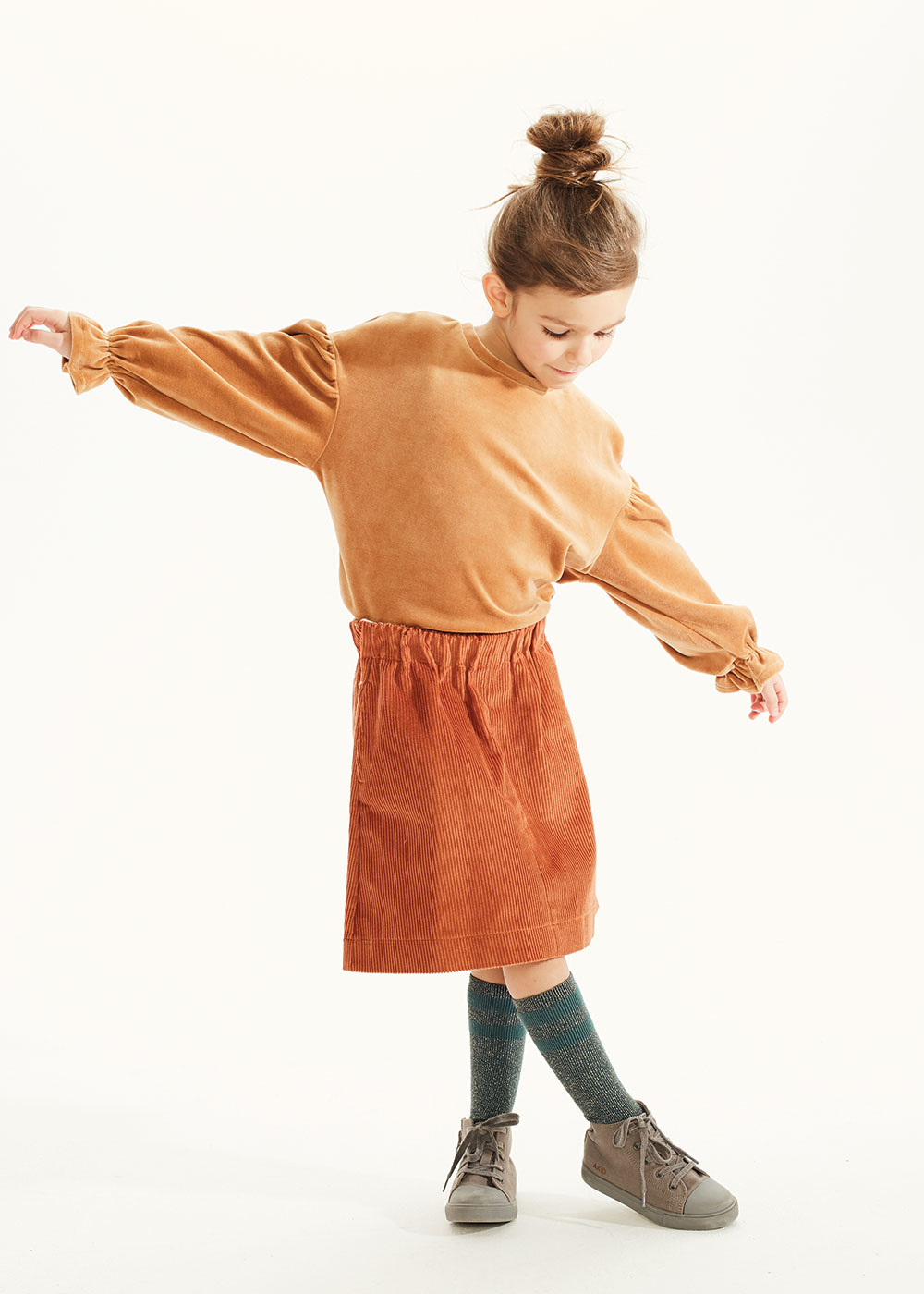 Kids on the moon Cord ginger skirt