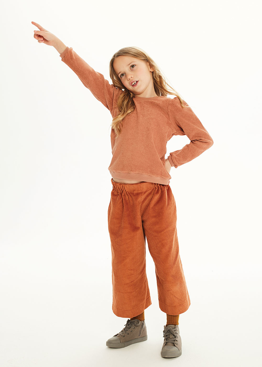 Kids on the moon Ginger puff top