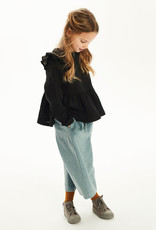Kids on the moon Charcoal frill top
