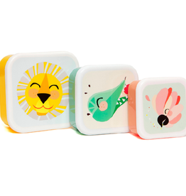 Petit Monkey Lunchbox set shiny lion