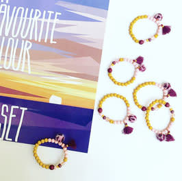 Feest-beest colourfull sunset armbandje