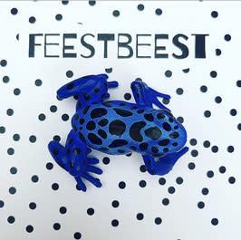 Feest-beest Feestbeest kikker blauw