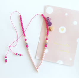 Feest-beest pretty in pink ketting