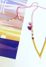 Feest-beest colourful sunset ketting