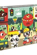 Petit Monkey puzzel in the city 48 stukjes