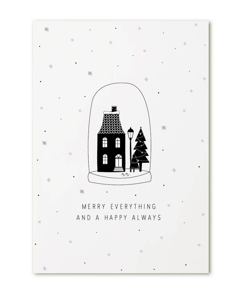 Zoedt Kerstkaart Merry everything and a happy always