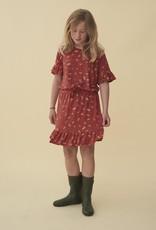 Soft gallery Danica dress | Burnt brick AOP camomile