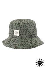 Soft gallery Camden hat   Oil green AOP leospot
