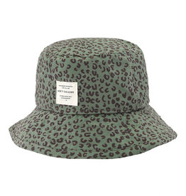 Soft gallery Camden hat | Oil green AOP leospot