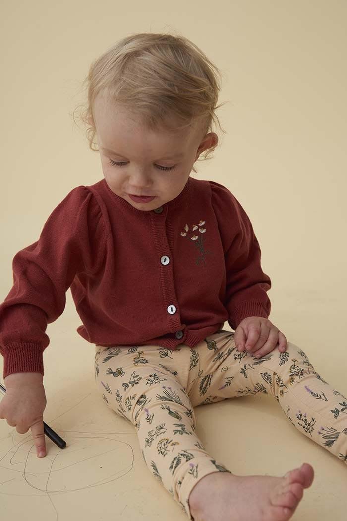 Soft gallery Baby Paula leggings| winter weat AOP healing herbs