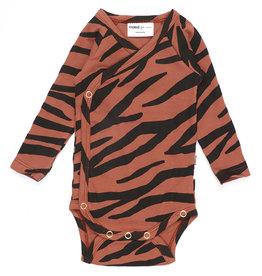 Maed for mini Blushing zebra romper
