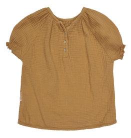 Maed for mini Caramel capybara blouse