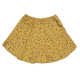 Maed for mini Ochre ocelot short skirt