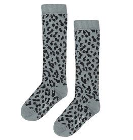 Maed for mini Blue leopard knee socks