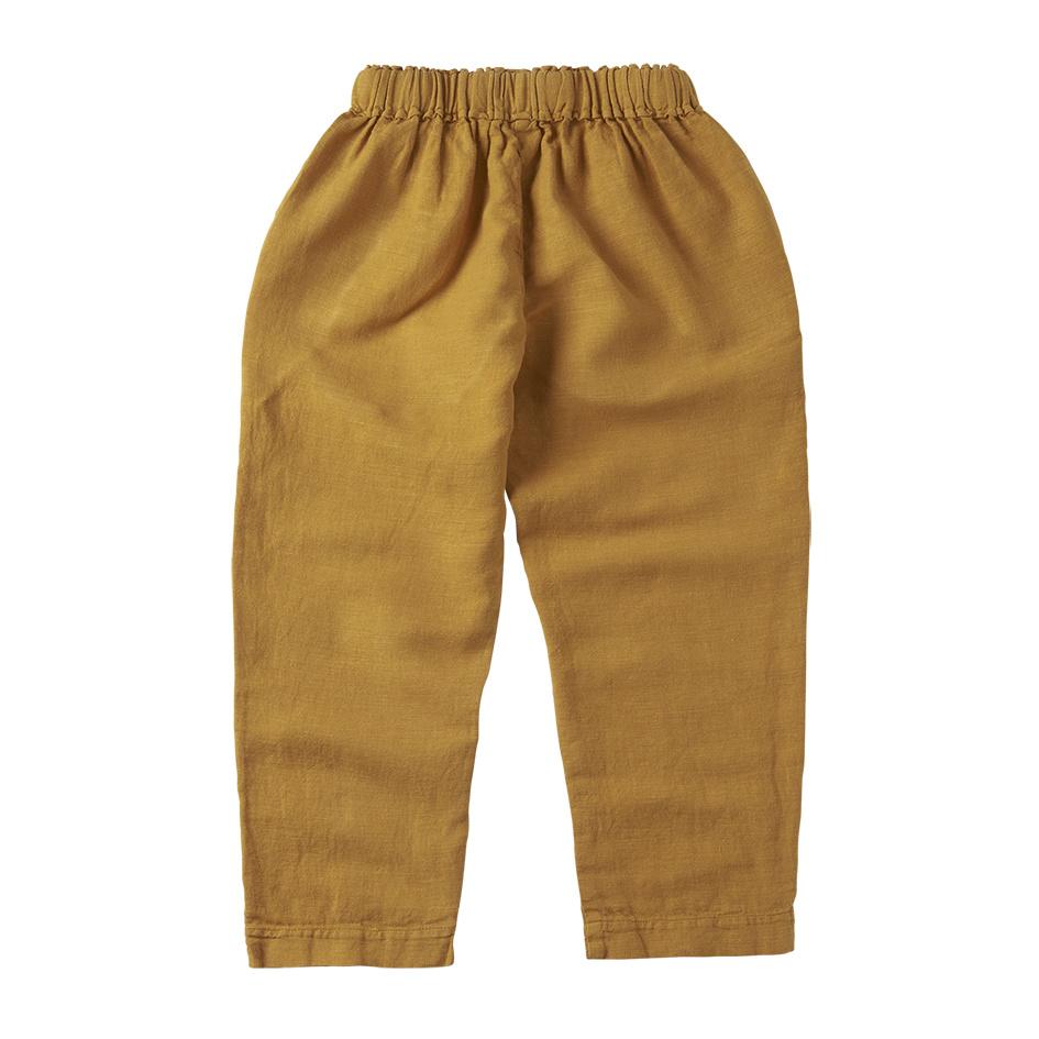 Mingo Linnen trouser | spruce yellow