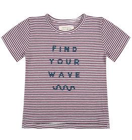 Little Indians Shirt find your wave | purple stripes