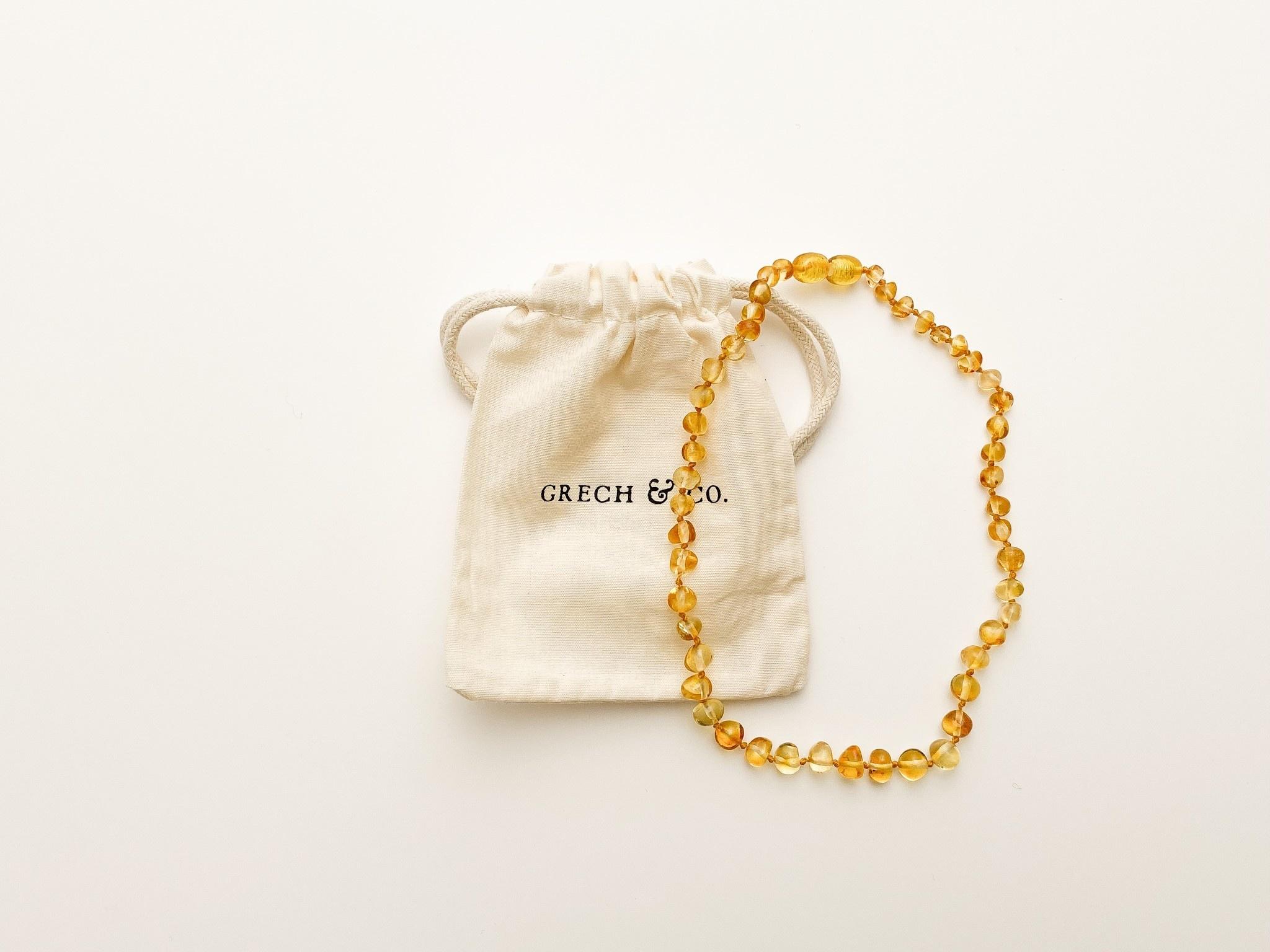 Grech & Co Amber kinder ketting | enlighten