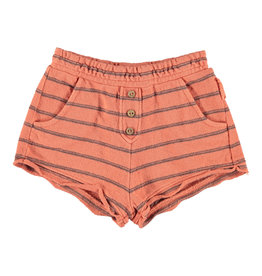 piupiuchick Shorts | coral & grey stripes | knitted