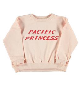 piupiuchick Sweatshirt | pale pink w/ print pacific princess