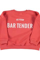 piupiuchick Sweatshirt | red w/ white print | TED
