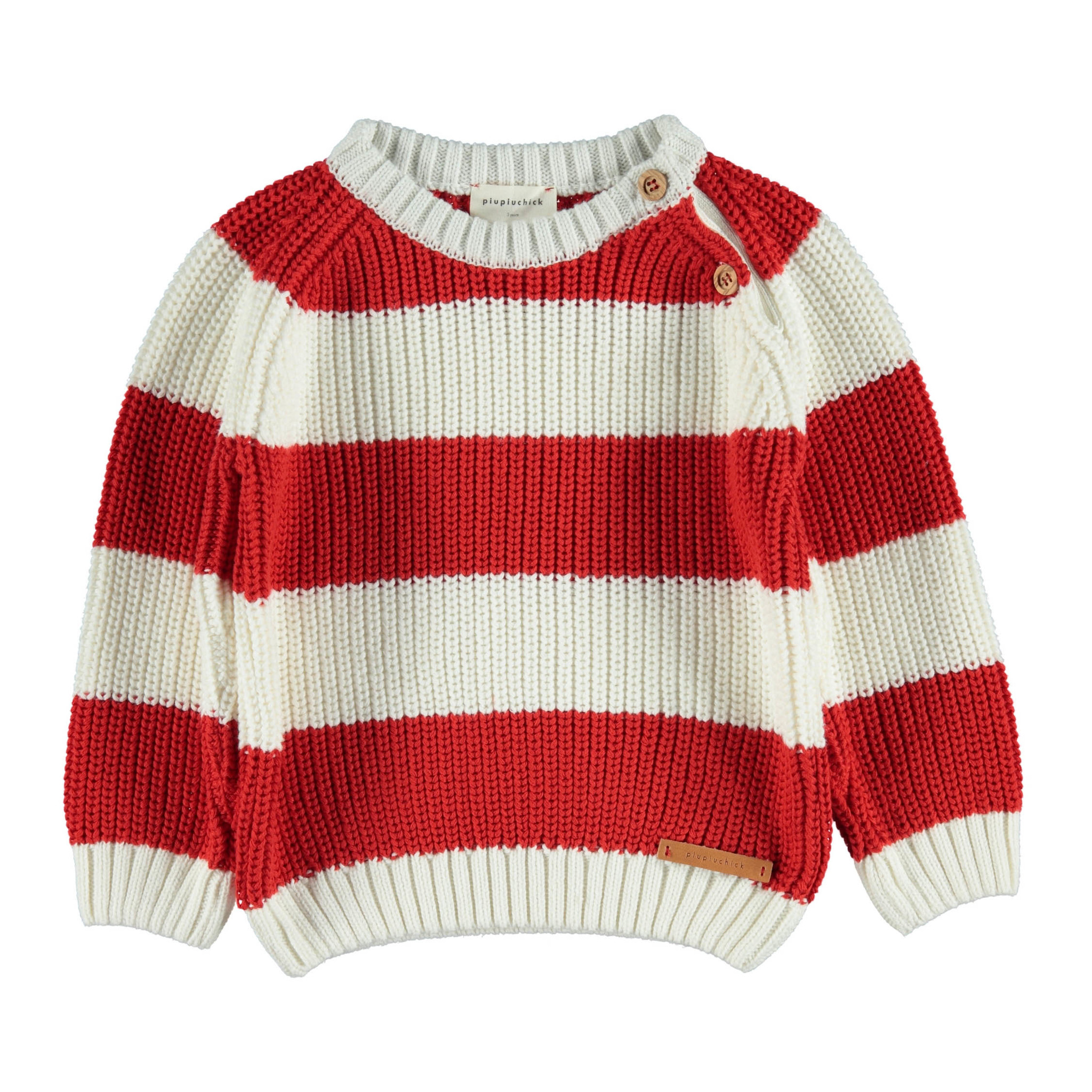 piupiuchick Knitted sweater | red & white stripes
