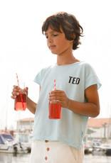 piupiuchick T-shirt | mist blue w/ black print TED