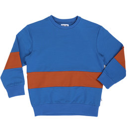 CarlijnQ Basics sweater striped blue|rust