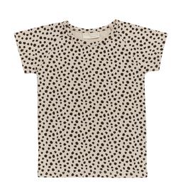 Blossom kids Raglan short sleeve |Animal dot - Soft Sand
