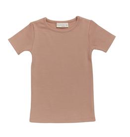 Blossom kids Short sleeve shirt | Soft rib - Toffe blush
