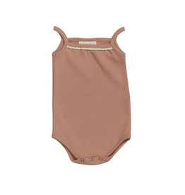 Blossom kids Body summer with lace soft rib| Toffee Blush
