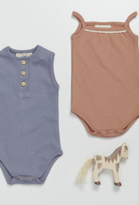 Blossom kids Body summer with lace soft rib  Toffee Blush