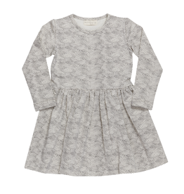 Blossom kids Dress dotted Waves |Chocolate Brown