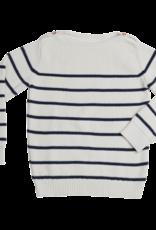Blossom kids Jumper knitted stripes | midnight blue