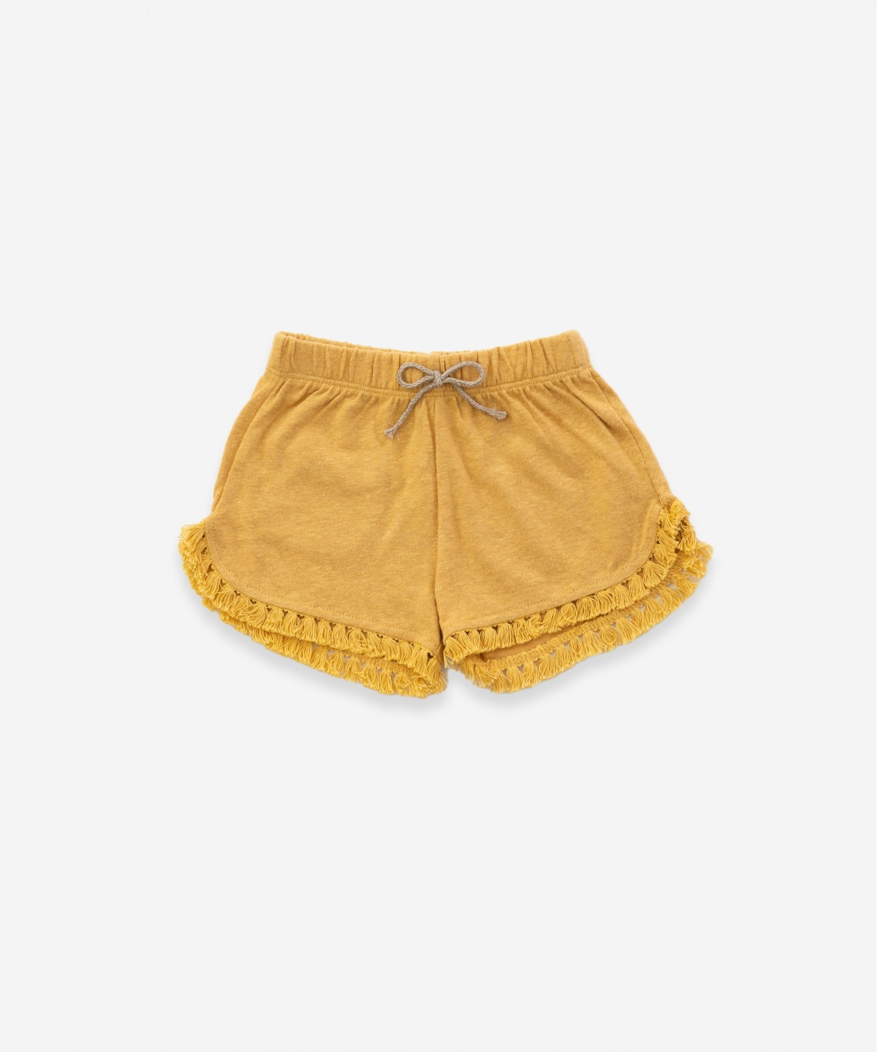 Play-up Shorts in organic cotton and linen | sea almond