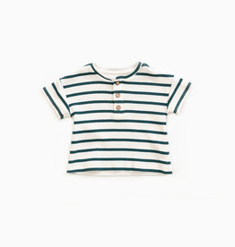 Play-up Striped t-shirt in organic cotton | Old glass