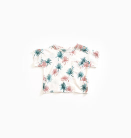 Play-up T-shirt in organic cotton and linen | Pearl