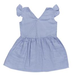 Blossom kids Muslin dress | Lilac Blue