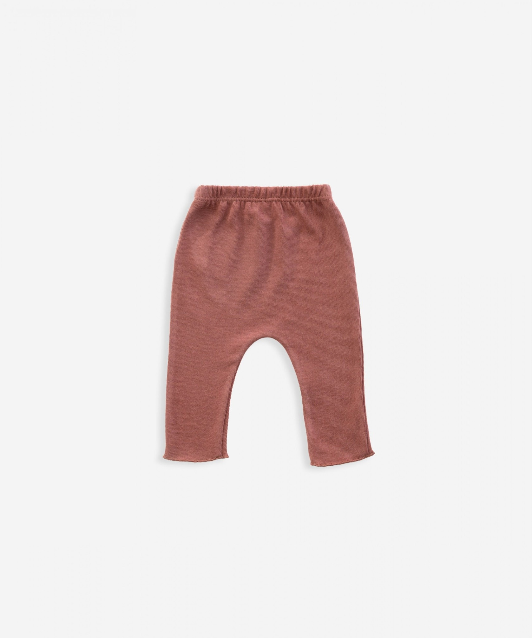 Play-up Cotton trousers with decorative button |Old tile