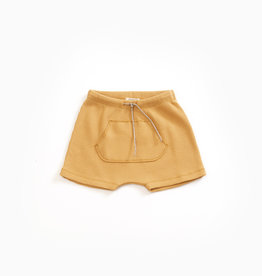Play-up Shorts with kangaroo pocket in organic cotton | Sea almond