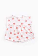 Play-up Sleeveless t-shirt in organic cotton  Pearl
